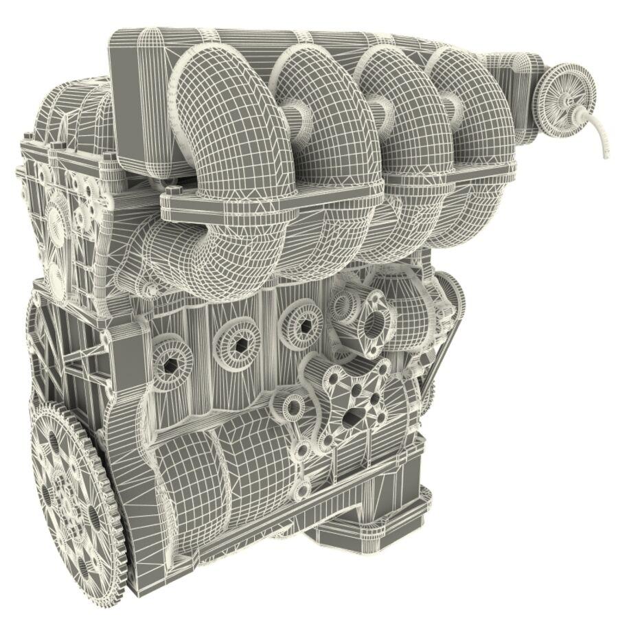 車のシャーシとエンジン royalty-free 3d model - Preview no. 59