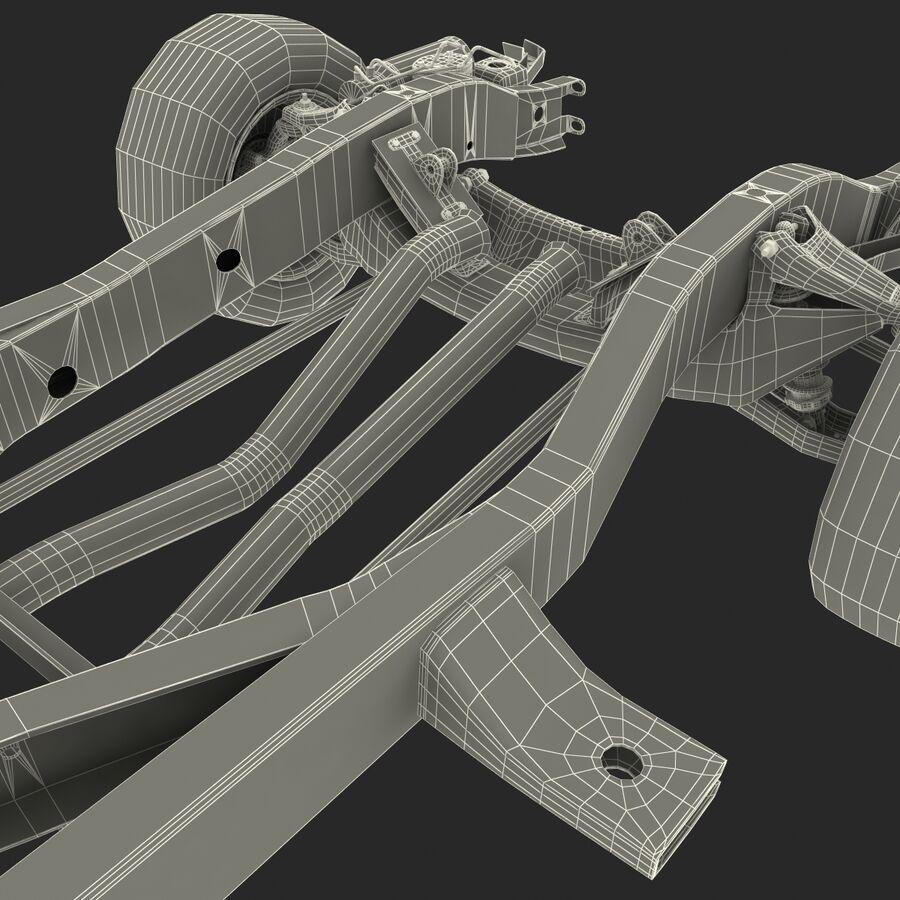 車のシャーシとエンジン royalty-free 3d model - Preview no. 27
