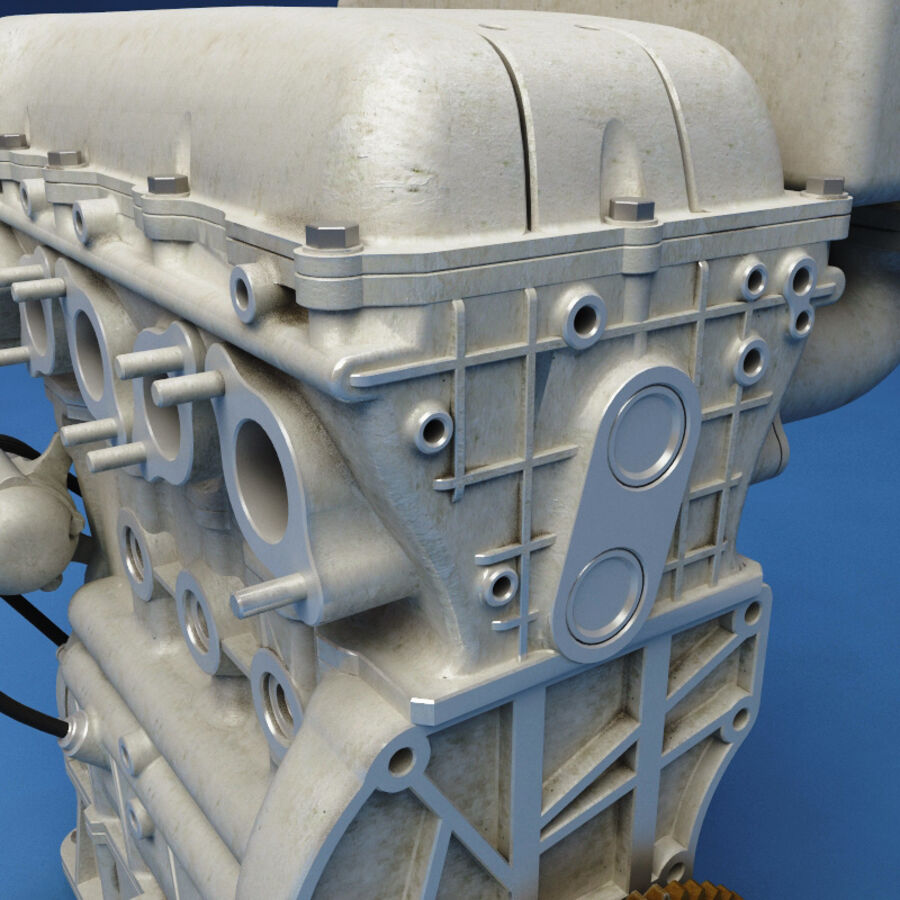 車のシャーシとエンジン royalty-free 3d model - Preview no. 51