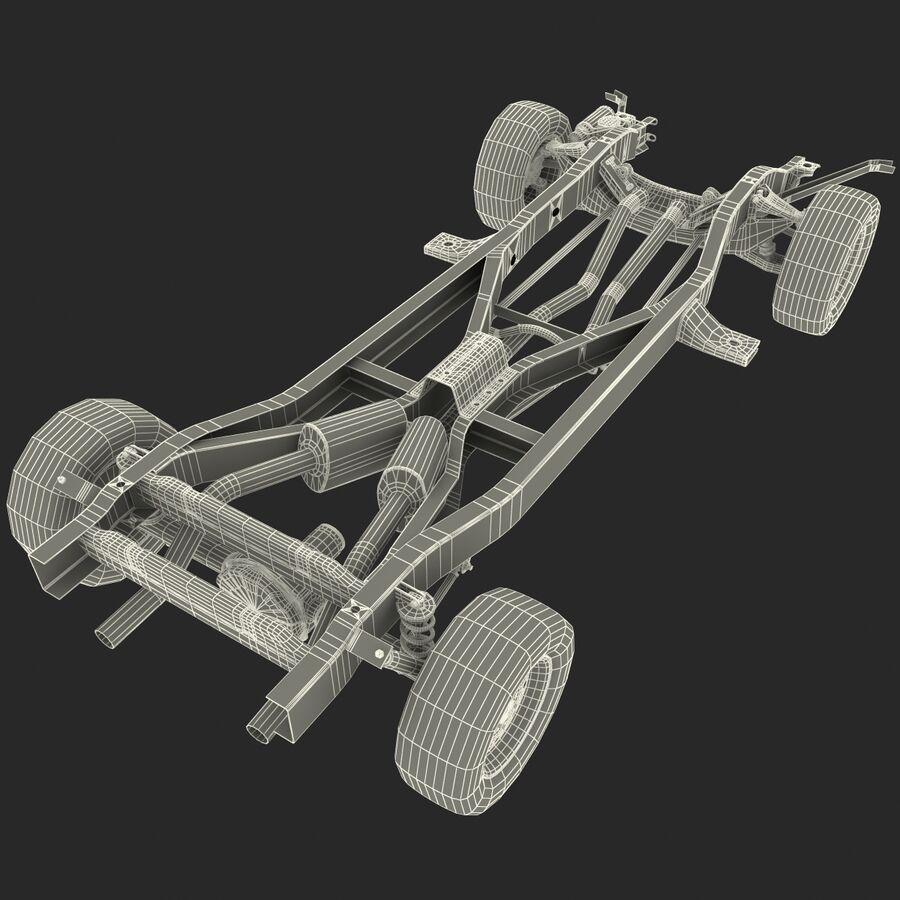 車のシャーシとエンジン royalty-free 3d model - Preview no. 22