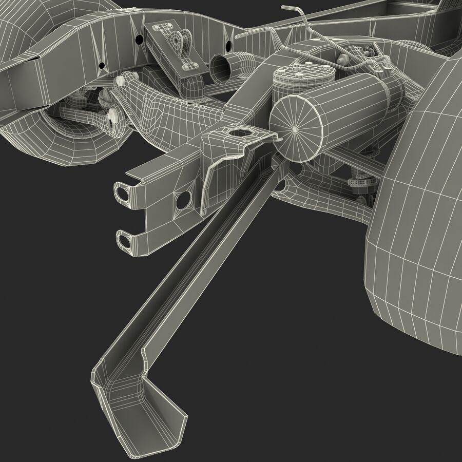 車のシャーシとエンジン royalty-free 3d model - Preview no. 30