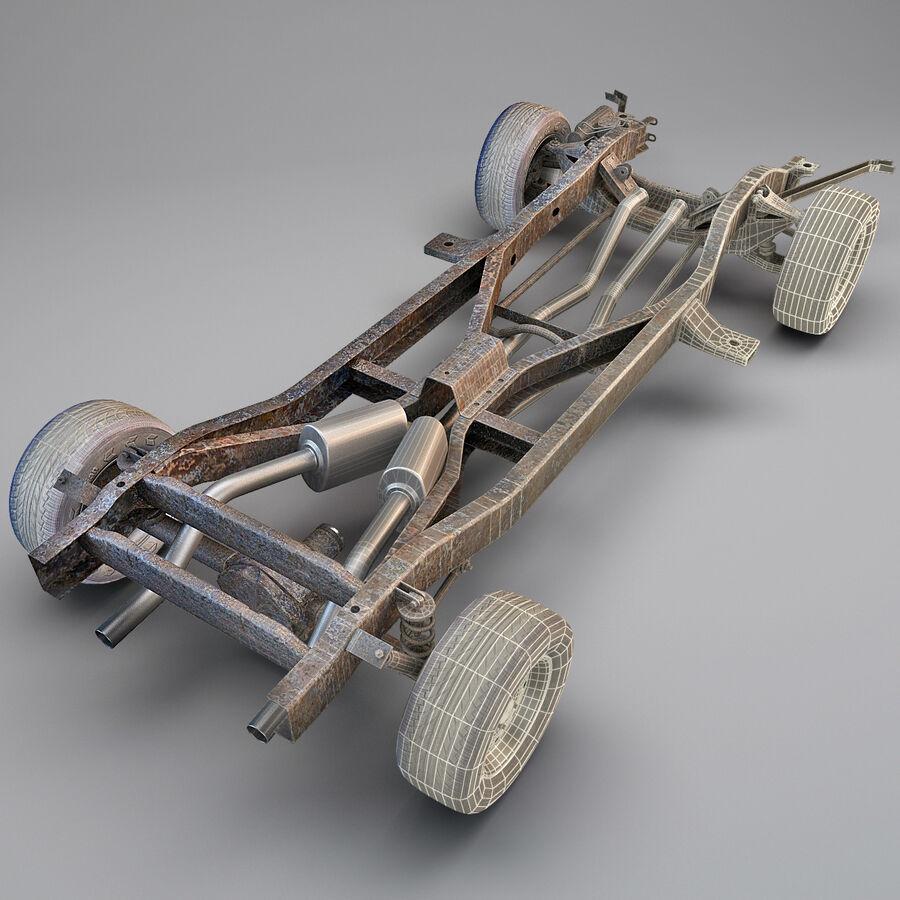 車のシャーシとエンジン royalty-free 3d model - Preview no. 3
