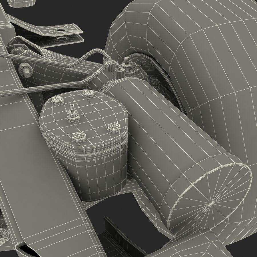 車のシャーシとエンジン royalty-free 3d model - Preview no. 34