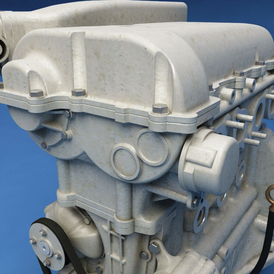 車のシャーシとエンジン royalty-free 3d model - Preview no. 52