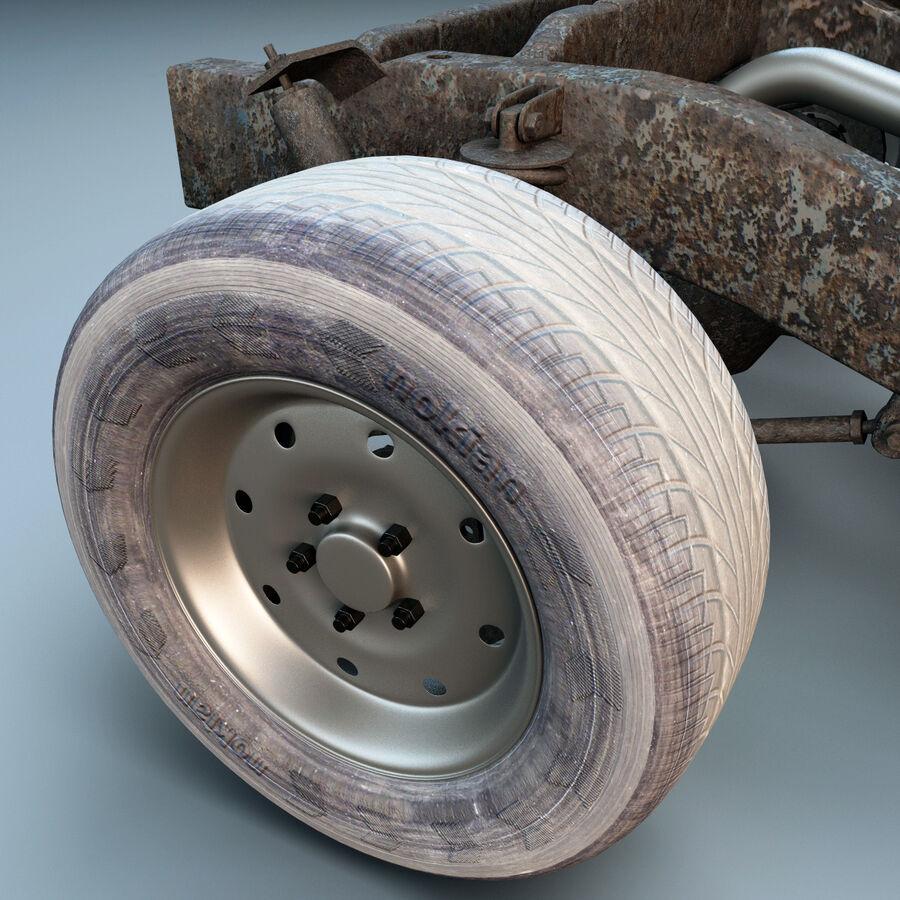 車のシャーシとエンジン royalty-free 3d model - Preview no. 18