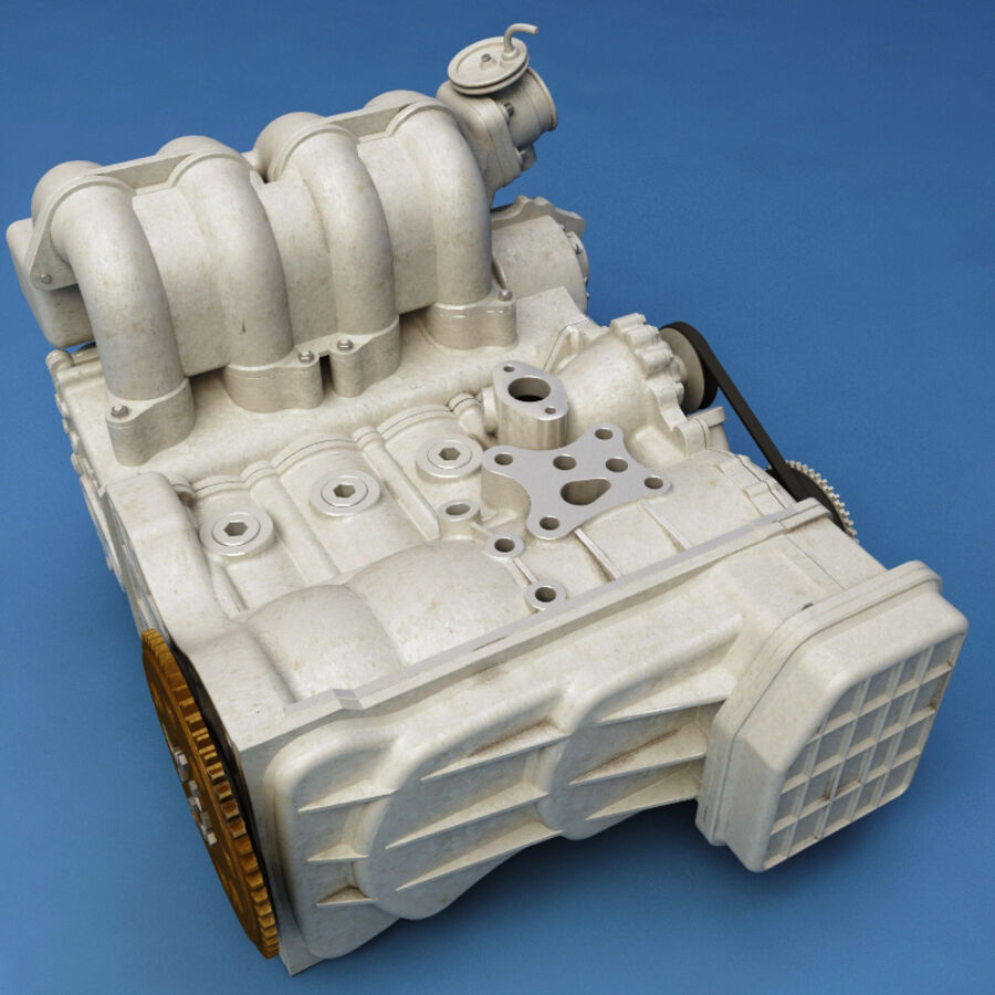 車のシャーシとエンジン royalty-free 3d model - Preview no. 57