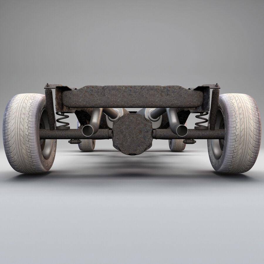 車のシャーシとエンジン royalty-free 3d model - Preview no. 4