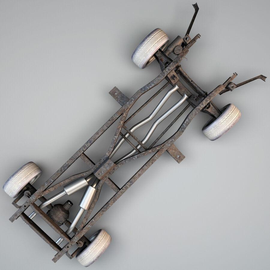車のシャーシとエンジン royalty-free 3d model - Preview no. 9