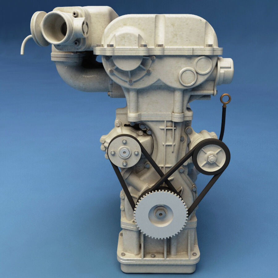 車のシャーシとエンジン royalty-free 3d model - Preview no. 47