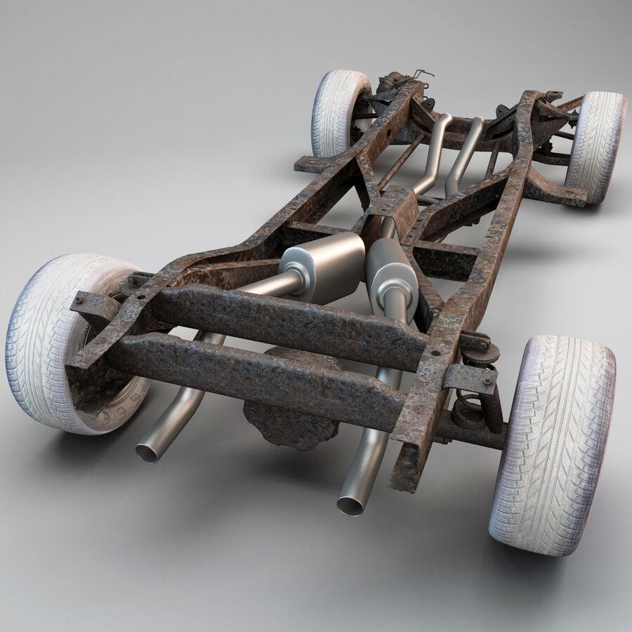 車のシャーシとエンジン royalty-free 3d model - Preview no. 8