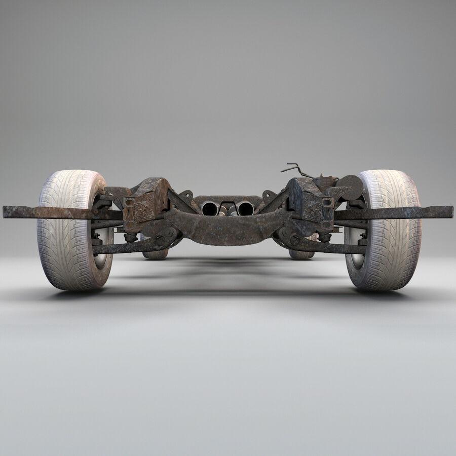 車のシャーシとエンジン royalty-free 3d model - Preview no. 6