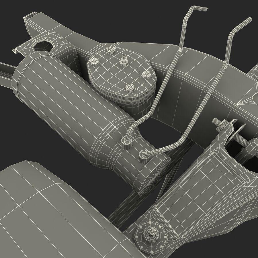 車のシャーシとエンジン royalty-free 3d model - Preview no. 31
