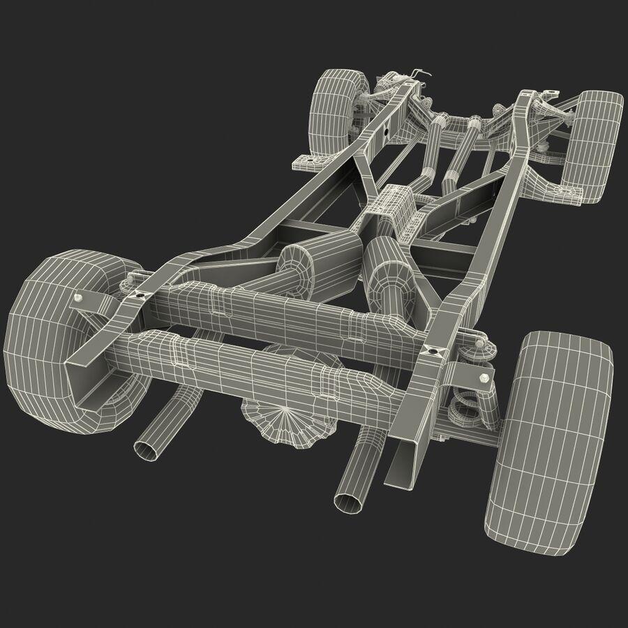 車のシャーシとエンジン royalty-free 3d model - Preview no. 23