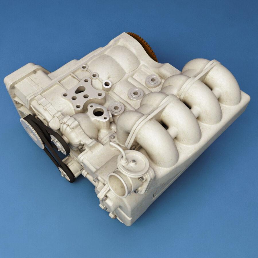 車のシャーシとエンジン royalty-free 3d model - Preview no. 40