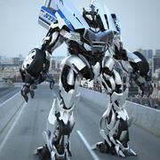 Police Car Transformer / Autobot - Rigged 3d model