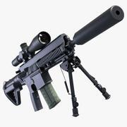 Fusil de combat 417 3d model