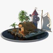 Raft House 3d model