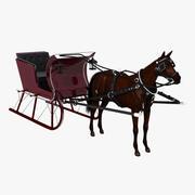 At ve Kızak 3d model