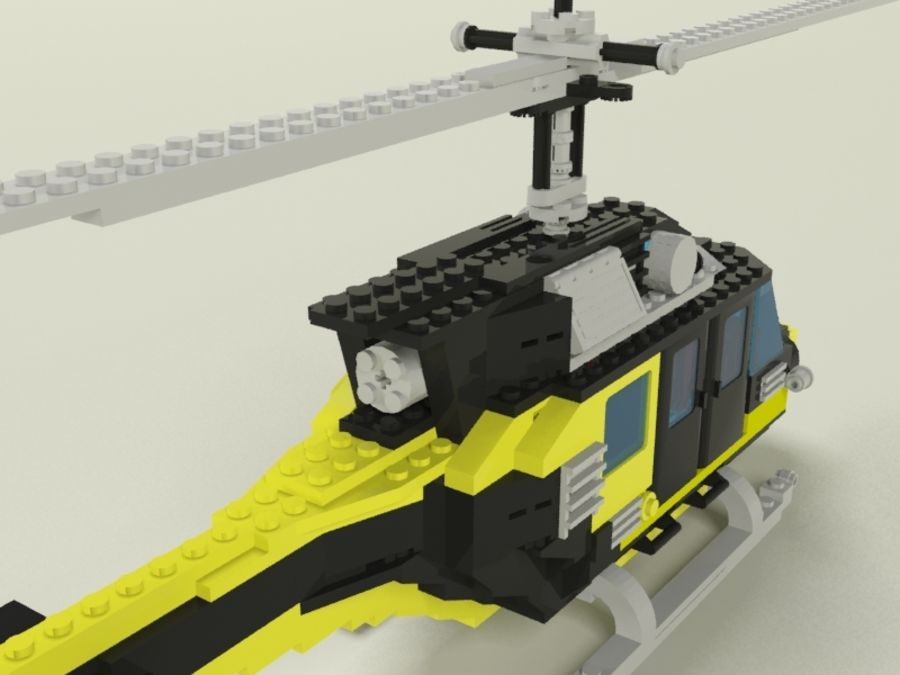 Lego Helicopter Rescue royalty-free 3d model - Preview no. 3