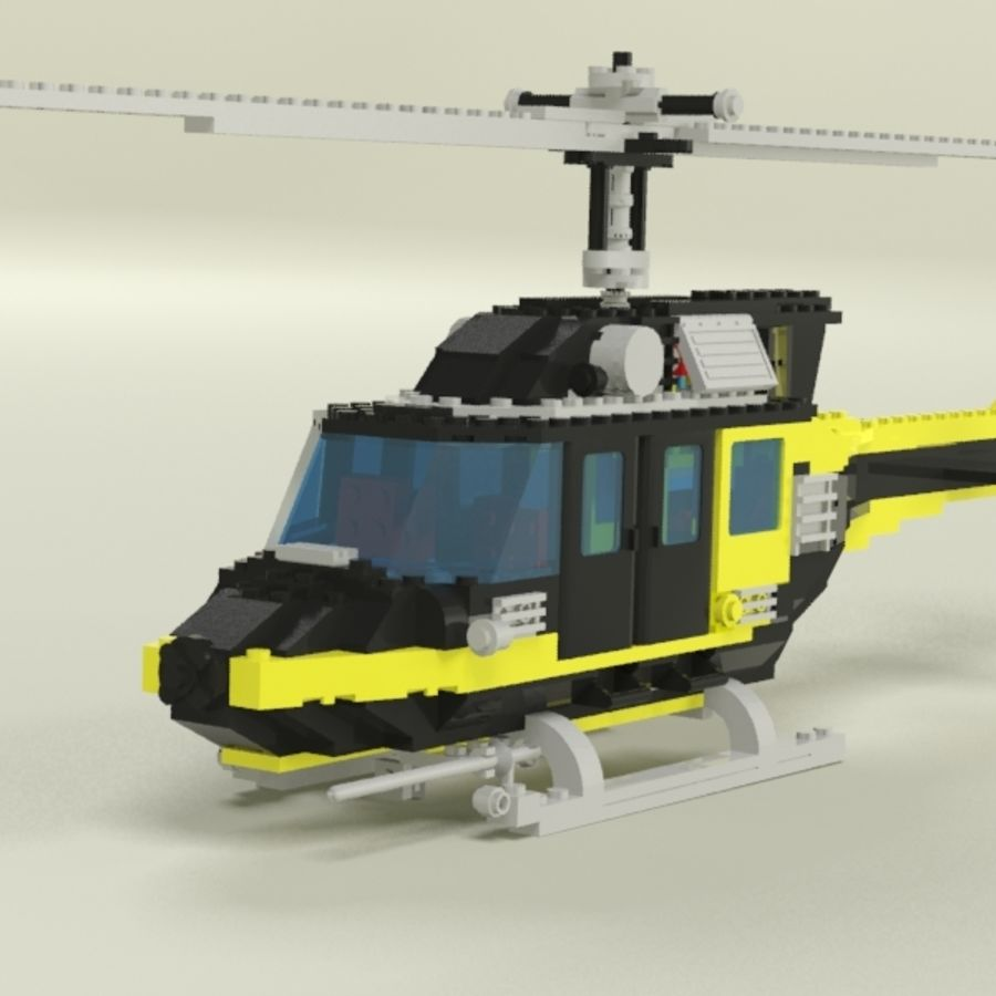 Lego Helicopter Rescue royalty-free 3d model - Preview no. 1