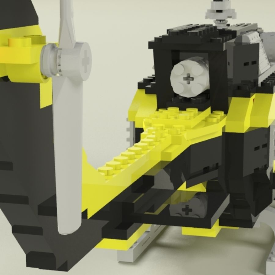 Lego Helicopter Rescue royalty-free 3d model - Preview no. 4