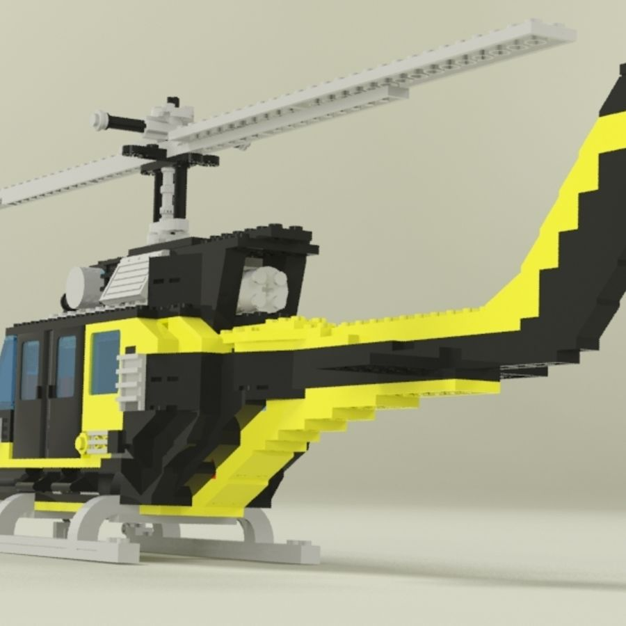 Lego Helicopter Rescue royalty-free 3d model - Preview no. 8