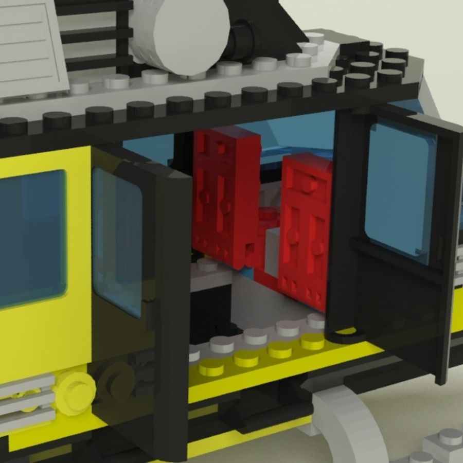 Lego Helicopter Rescue royalty-free 3d model - Preview no. 5