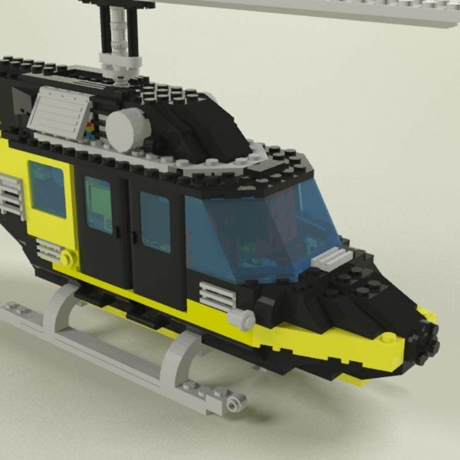 Lego Helicopter Rescue royalty-free 3d model - Preview no. 2