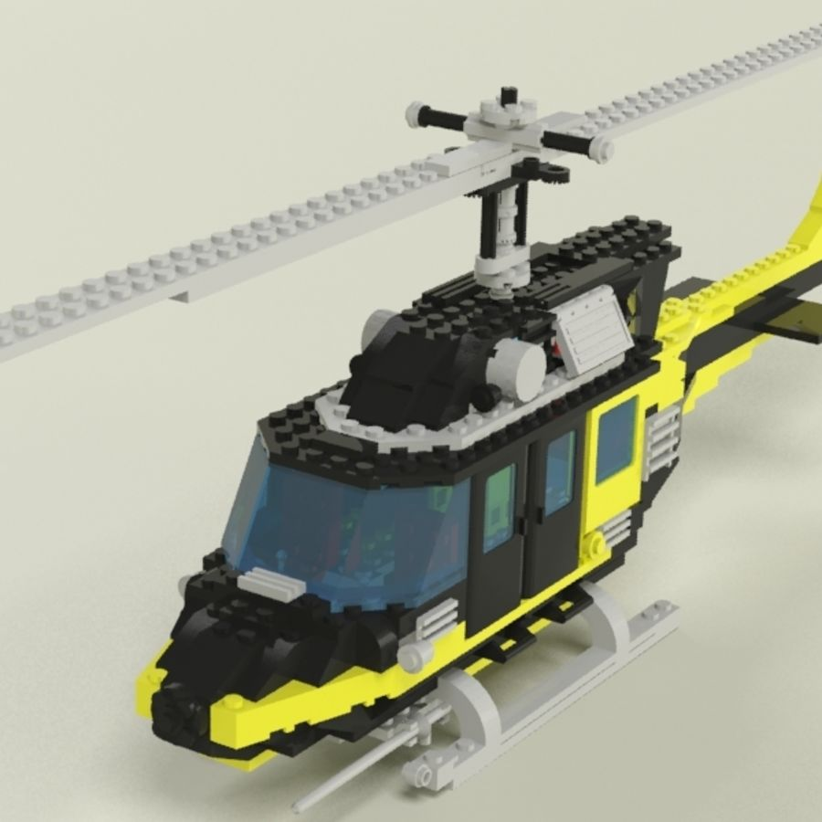 Lego Helicopter Rescue royalty-free 3d model - Preview no. 7