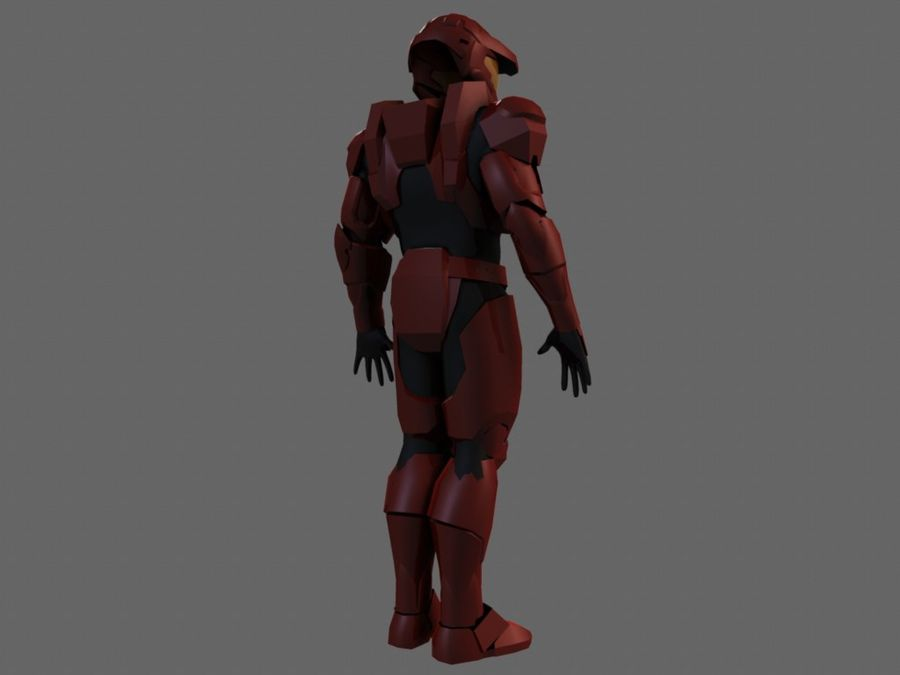 Halo Armor royalty-free 3d model - Preview no. 2