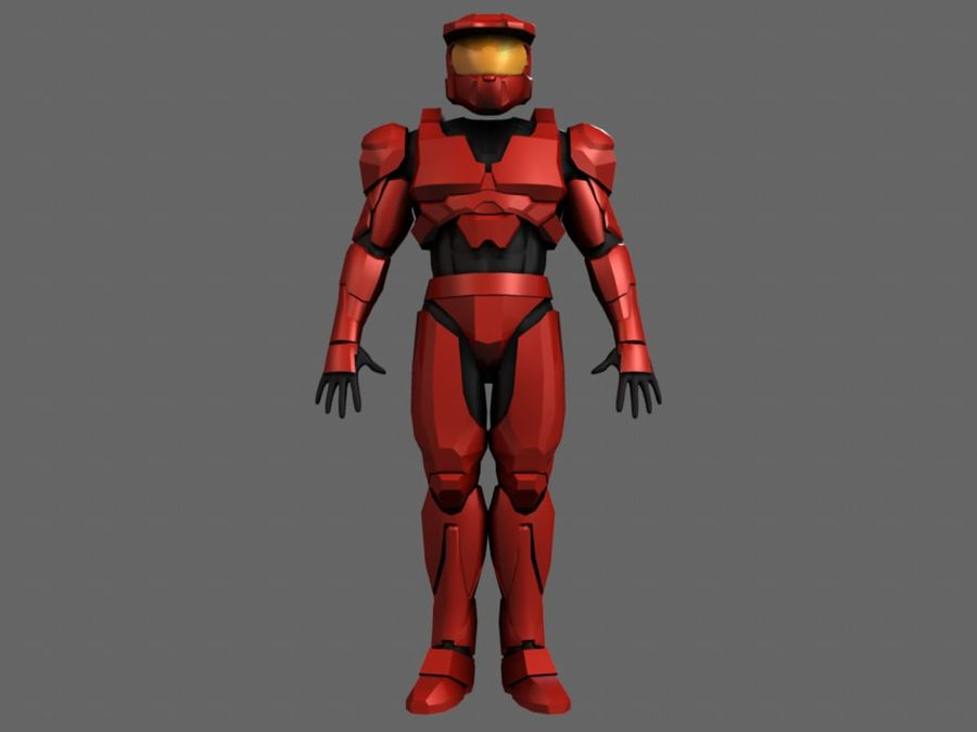 Halo Armor royalty-free 3d model - Preview no. 3