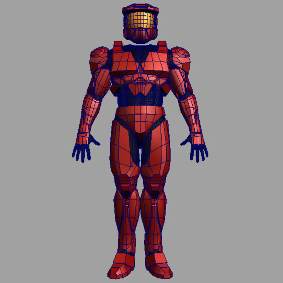Halo Armor royalty-free 3d model - Preview no. 4