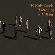Paquet 3d décontracté pour 10 personnes 3d model