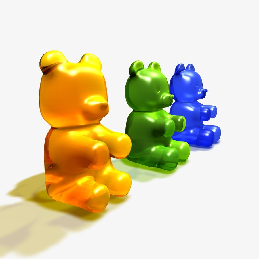 Gummy Bear Doce royalty-free 3d model - Preview no. 1