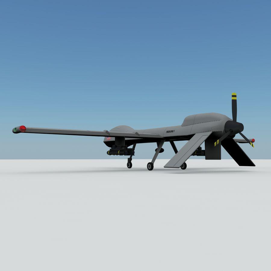 Predator Drone royalty-free 3d model - Preview no. 5