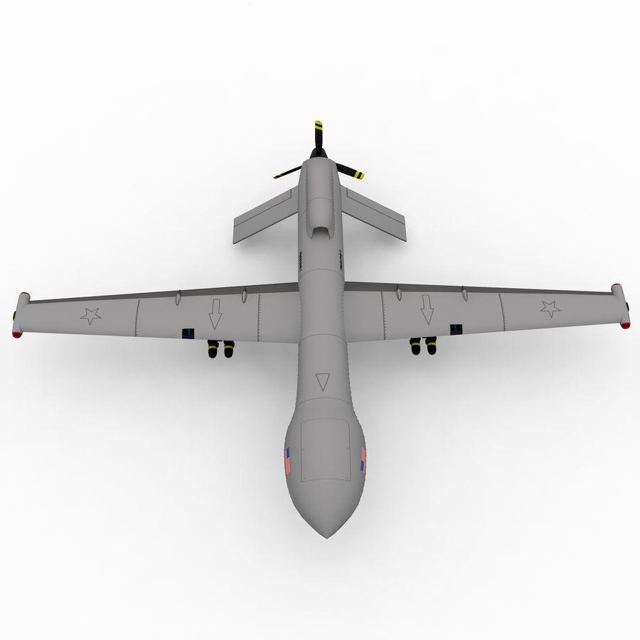 Predator Drone royalty-free 3d model - Preview no. 9