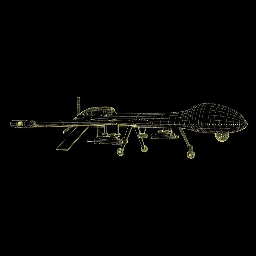 Predator Drone royalty-free 3d model - Preview no. 19