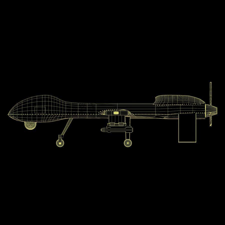 Predator Drone royalty-free 3d model - Preview no. 16