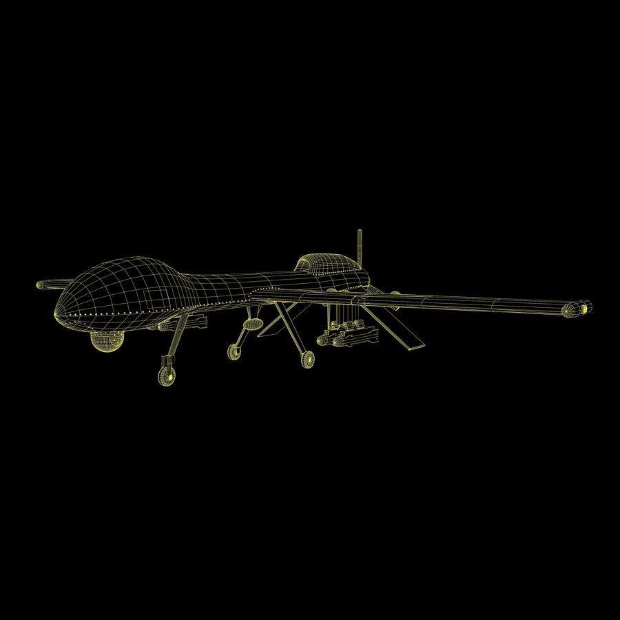 Predator Drone royalty-free 3d model - Preview no. 18