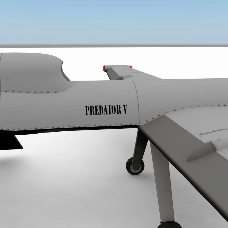 Predator Drone royalty-free 3d model - Preview no. 11