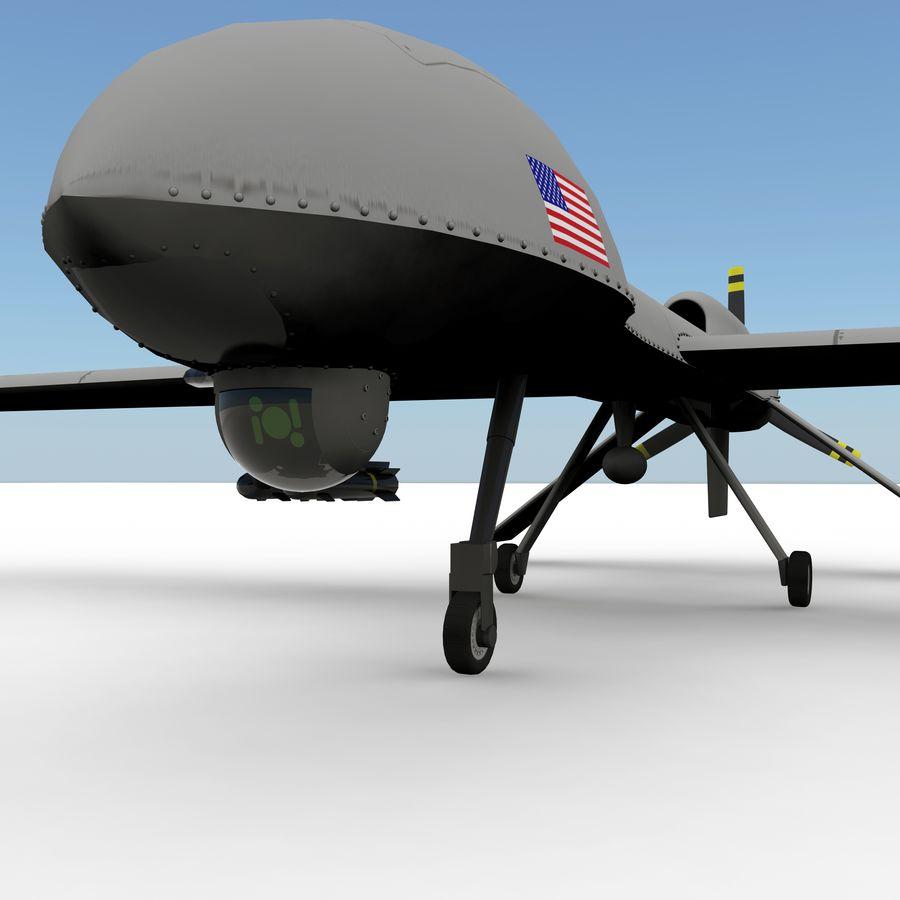 Predator Drone royalty-free 3d model - Preview no. 6