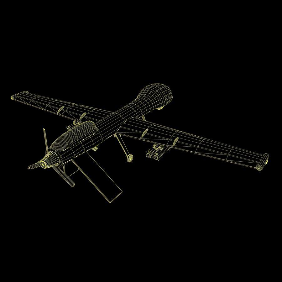 Predator Drone royalty-free 3d model - Preview no. 14