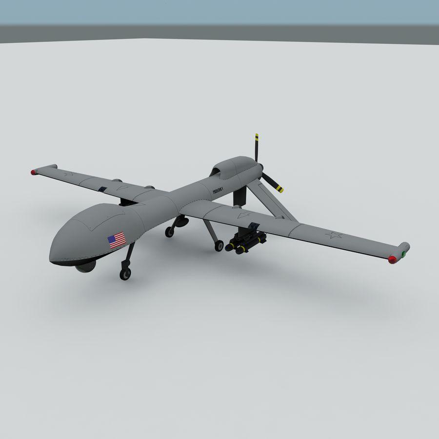 Predator Drone royalty-free 3d model - Preview no. 3