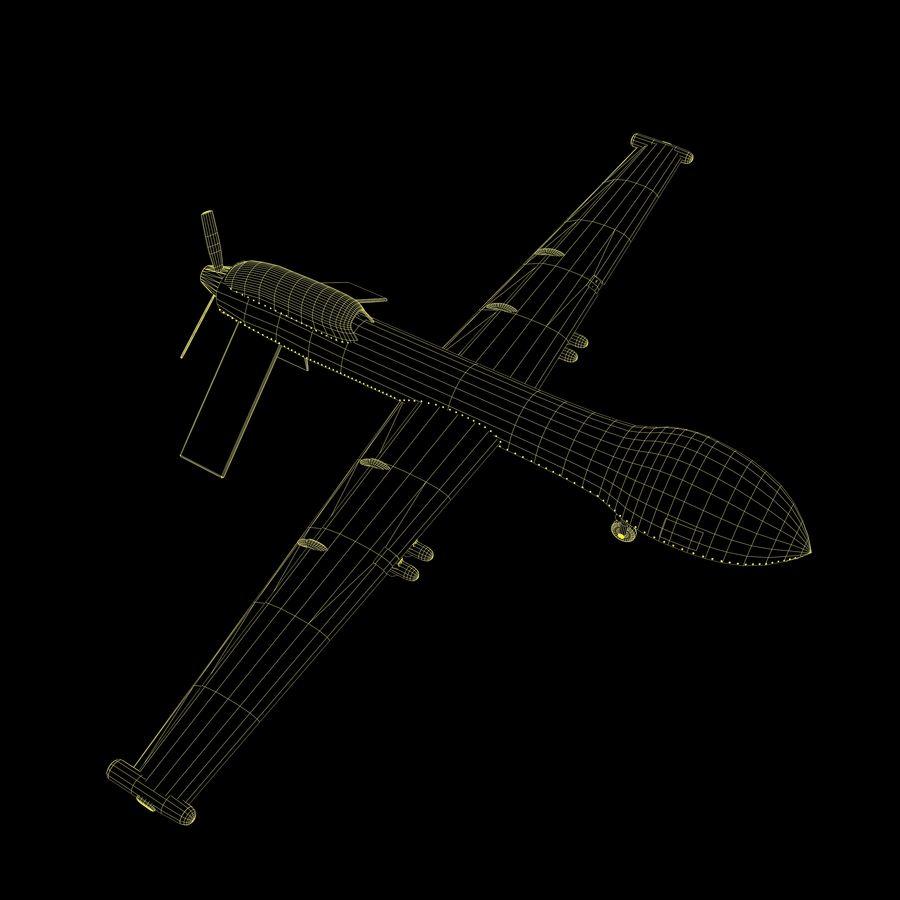 Predator Drone royalty-free 3d model - Preview no. 13