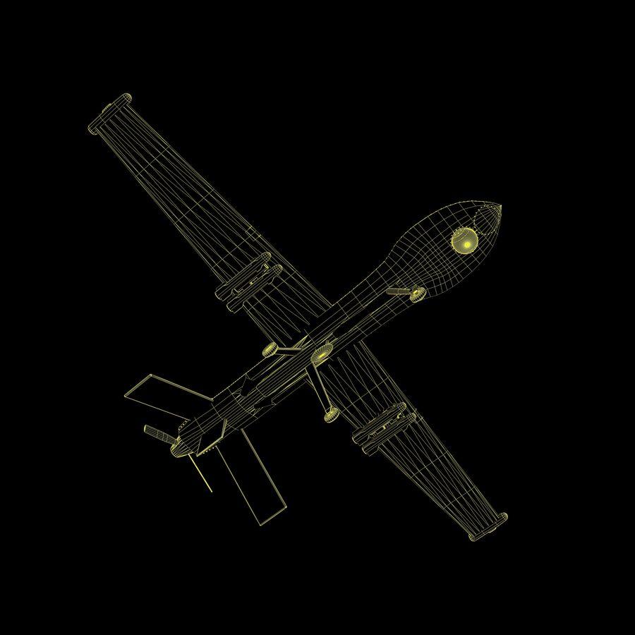 Predator Drone royalty-free 3d model - Preview no. 15