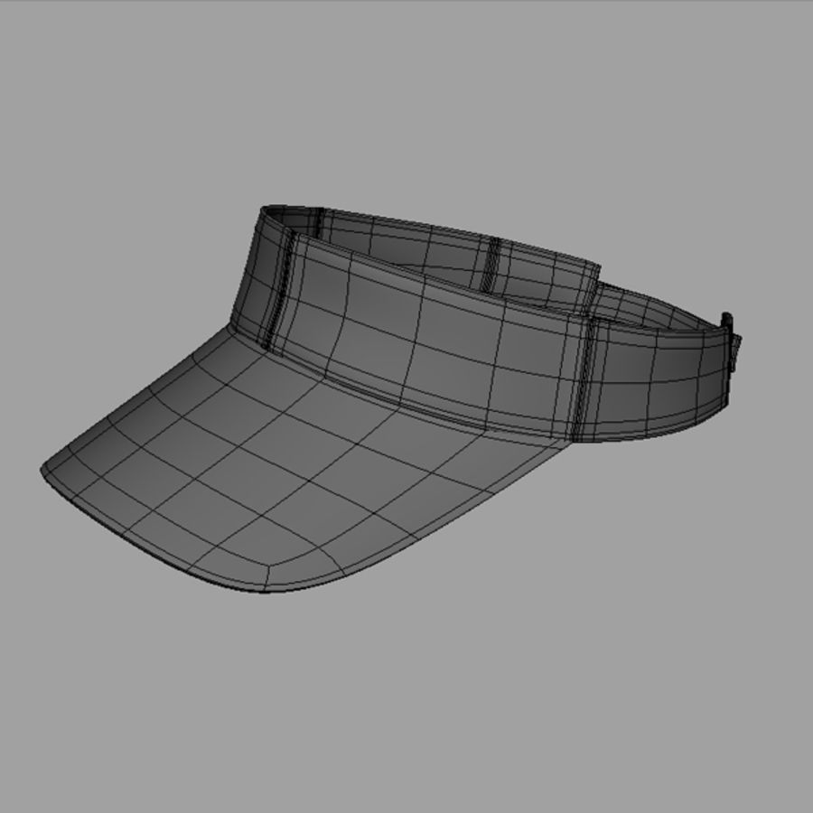 Visor Cap royalty-free 3d model - Preview no. 5