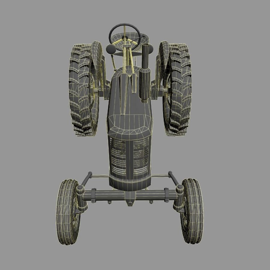 Old Rusty Tractor royalty-free 3d model - Preview no. 10