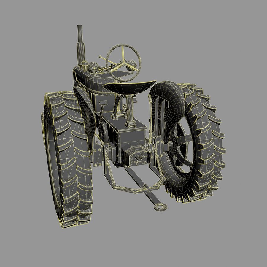 Old Rusty Tractor royalty-free 3d model - Preview no. 9