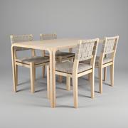 Alvar Aalto Table à manger 3d model