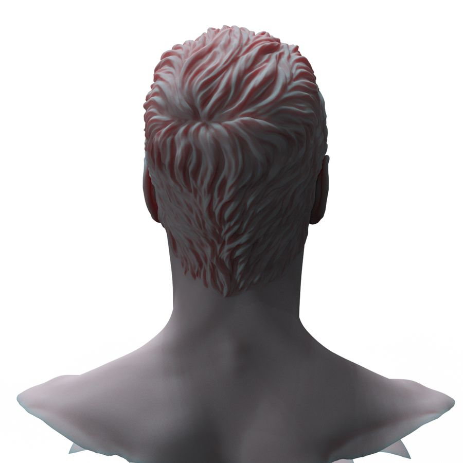 Superhero head royalty-free 3d model - Preview no. 5